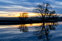Beautiful Sunset Reflection - North Dakota Marsh-5-2