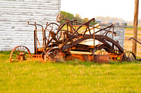 Antique Road Grader, Central North Dakota