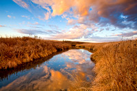 Beautiful Sunrise Reflection, North Dakota Creek-2