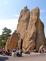 Motorcycles on the Needles Highway in the Black Hills of South Dakota