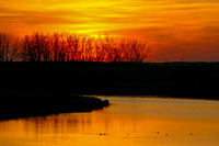 Beautiful Sunset Reflection - North Dakota Marsh-2