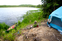 Canoe camping in the Alaska wilderness-2