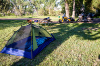 Motorcycle camping in the North Dakota badlands