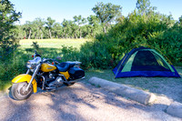 Motorcycle camping in Theodore Roosevelt National Park