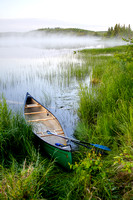 Canoe on a Foggy Marsh at Dawn, Kenai Peninsula, Alaska-2