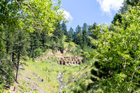 Foundation of the Abandoned Bismarck Gold Mine - Mickelson Trail, Black Hills of SD