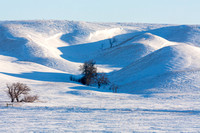 Snow Covered Hills in the Des Lacs River Valley, North Dakota