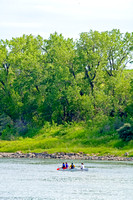 Canoeing on the Missorui River in North Dakota