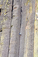 Climbers on Devils Tower National Monument, Wyoming-2