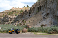 Motorcycle in Theodore Roosevelt National Park, North Dakota