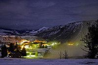 Mammoth, Wyoming at Night, from the Mammoth Hot Springs Terrace-2