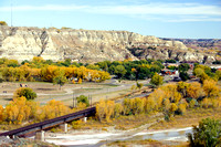 Fall Color in Downtown Medora, North Dakota