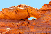 The arch above -The Wave-, Paria Canyon Wilderness Area, Arizona - Utah Border