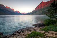 Wild Goose Island on St. Mary's Lake Scenic, Glacier National Park, Montana