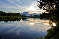 Sunset at Oxbow Bend, Grand Teton National Park, Wyoming-2