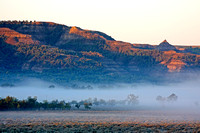 Fog in the badlands at sunrise - Theodore Roosevelt National Park-2