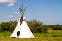 Teepee at the Knife River Indian Villages, North Dakota