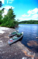Canoes in the BWCAW