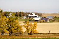 Farmstead on the Autumn Dakota Prairie