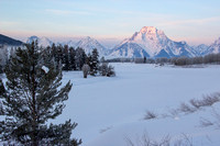 Winter Dawn at Oxbow Bend, Grand Teton National Park, Wyoming-2