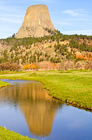 Landscape View of Belle Fourche River and Devils Tower National Monument, Wyoming-10