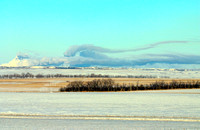 Cooling Towers at Coal-Fired Power Plants in the Winter, North Dakota