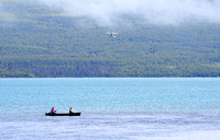 Canoeists and Float Plane, Alaska