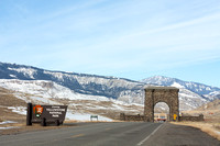Entrance Arch to Yellowstone National Park near Gardiner, Montana