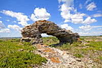 Arch formation near the Maah-Daah-Hey trail, North Dakota