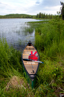 Canoe in the Alaska wilderness