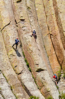 Climbers on Devils Tower National Monument, Wyoming-1