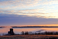 Fog Rolling over Garrison Dam, North Dakota-2