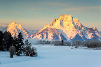Winter Sunrise at Oxbow Bend, Grand Teton National Park, Wyoming