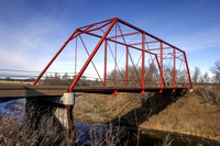 Historic Stephens Bridge near Stanton, North Dakota