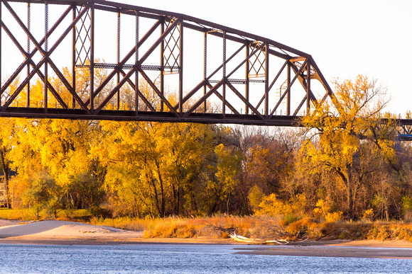 Missouri River Bridge at Sunrise